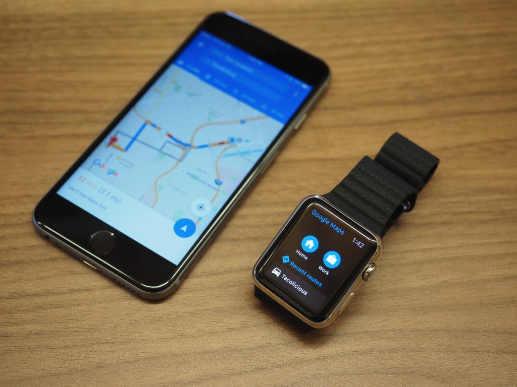 google map on apple watch